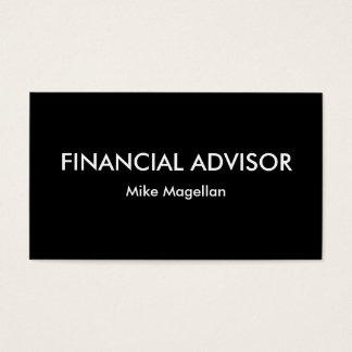 Simple Financial Advisor Business Card