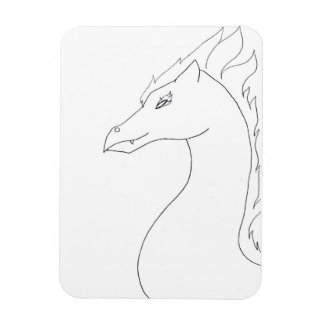 Simple, Fire Dragon Magnet