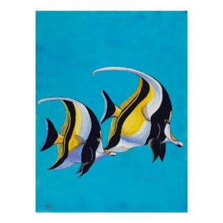 Simple Fish - Moorish Idols Poster