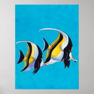 Simple Fish - Moorish Idols Print