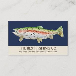 Fishing business cards templates zazzle simple fishing charter boat guide business fish business card colourmoves