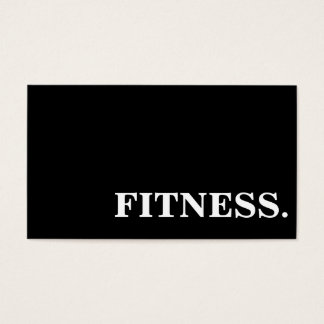 Simple Fitness Personal Trainer Business Card