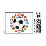 simple Flag with ball Postage Stamps