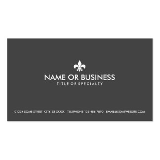 simple fleur de lys Double-Sided standard business cards (Pack of 100)