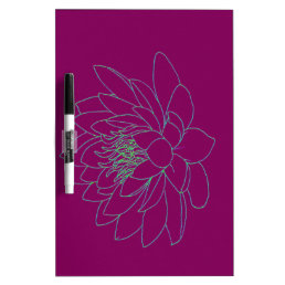 Simple Floral - Beautiful Lotus Dry Erase Board
