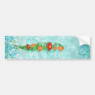 Simple Floral Bumper Sticker