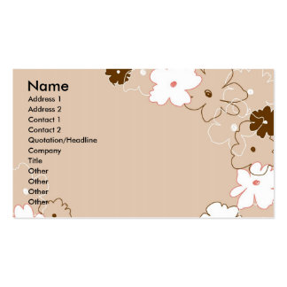 Simple Floral Business Card