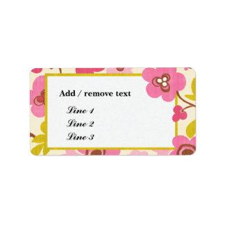 Simple floral-cuaesquiera etiquetas de la ocasión  etiqueta de dirección