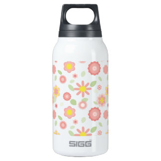 Simple Floral-dusty pink Insulated Water Bottle