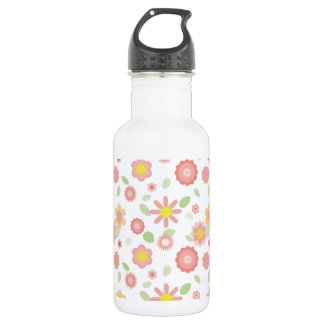 Simple Floral-dusty pink Water Bottle