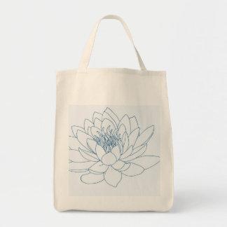 Simple Floral Lotus Tote Bag