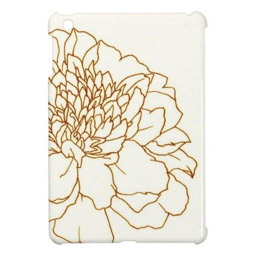Simple Floral Marigold iPad Miniカバー