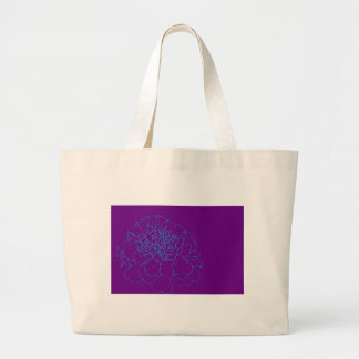 Simple Floral Marigold Large Tote Bag