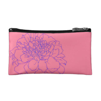 Simple Floral Marigold Makeup Bag