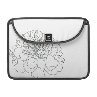 Simple Floral Marigold Sleeve For MacBook Pro