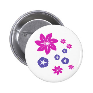Simple floral mix 2 inch round button