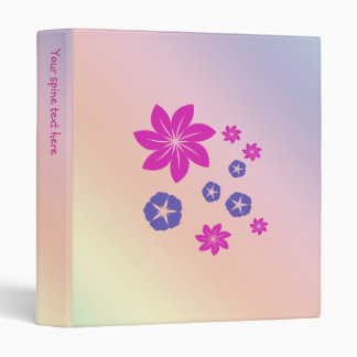 Simple floral mix with color harmony 3 ring binders