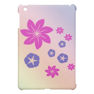 Simple floral mix with color harmony case for the iPad mini