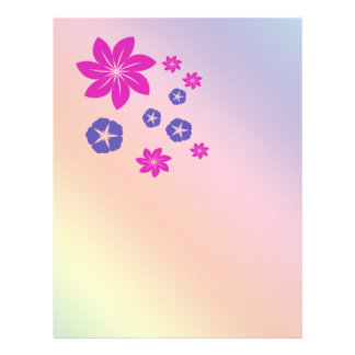Simple floral mix with color harmony flyer design