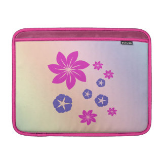 Simple floral mix with color harmony MacBook sleeves