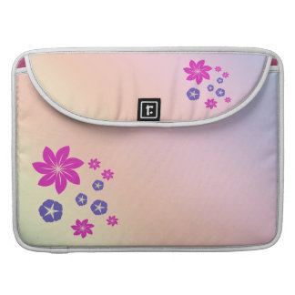 Simple floral mix with color harmony MacBook pro sleeve