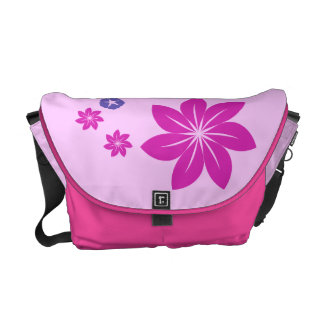 Simple floral mix with color harmony messenger bag