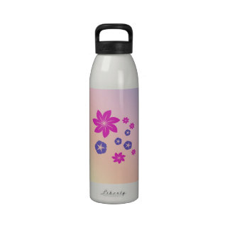 Simple floral mix with color harmony water bottles