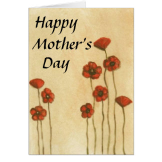 Simple floral 'Mother's Day' greeting card