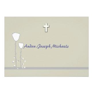 Simple Floral Religious Invitation