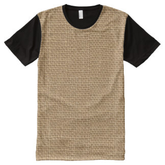 Simple floral rustic burlap texture All-Over-Print T-Shirt