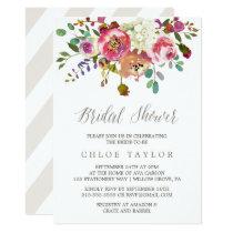 Simple Floral Watercolor Bouquet Bridal Shower Card