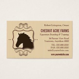 Simple Flourish Horse Business Card