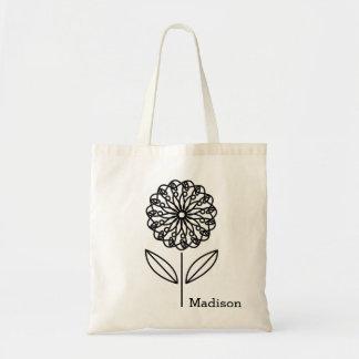 Simple Flower Art Custom Tote Bag