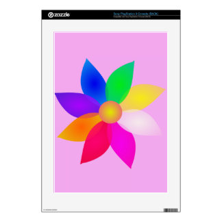 Simple Flower Art Pink Skins For The PS3