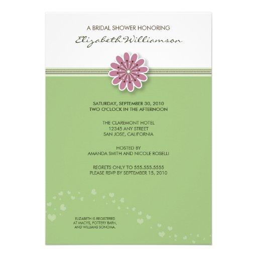 Simple Flower Bridal Shower Invitation (mint)