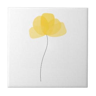 Simple Flower Ceramic Tile Small Square Tile