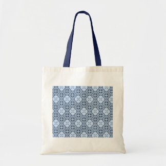 Simple Flower Pattern, in Light Blue Budget Tote Bag