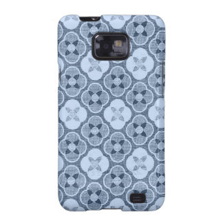 Simple Flower Pattern, in Light Blue Galaxy S2 Cover