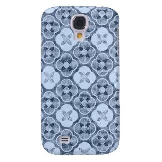 Simple Flower Pattern, in Light Blue Galaxy S4 Case