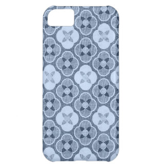 Simple Flower Pattern, in Light Blue iPhone 5C Cases