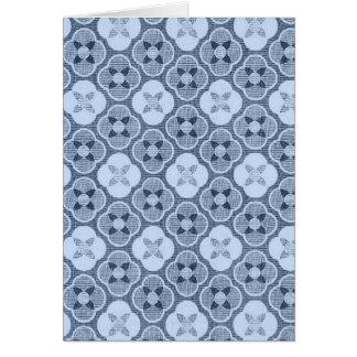 Simple Flower Pattern, in Light Blue Greeting Card