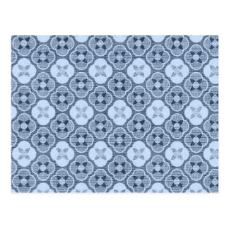 Simple Flower Pattern, in Light Blue Postcard