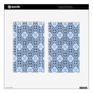 Simple Flower Pattern, in Light Blue Skins For Kindle Fire