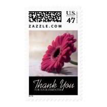 Simple Flower Sympathy Thank You Postage 1
