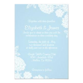 Simple Flower Wedding Invitations