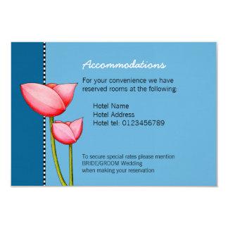 Simple Flowers blue 1 Wedding Enclosure Card