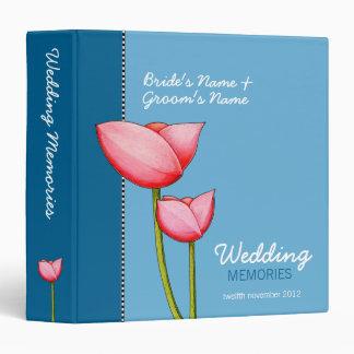 Simple Flowers blue 1 Wedding Memories Binder