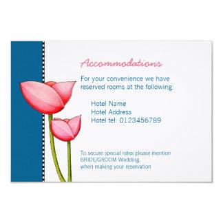 Simple Flowers blue 2 Wedding Enclosure Card