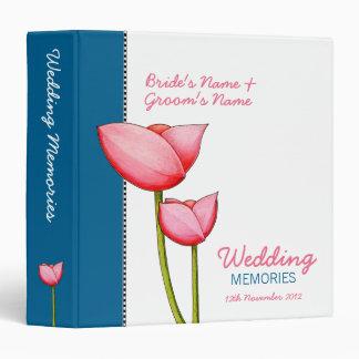 Simple Flowers blue 2 Wedding Memories Binder