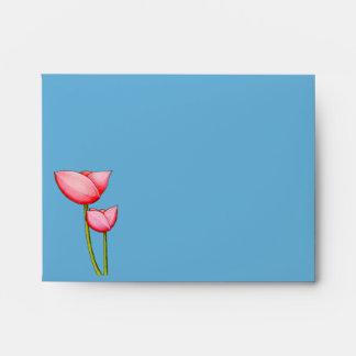 Simple Flowers blue A2 Envelope
